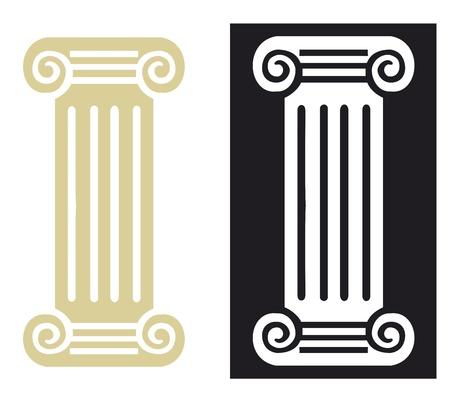 roman column: Roman column in vector Illustration