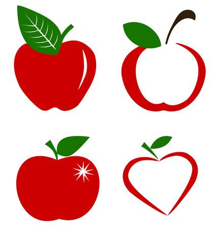 apple symbol vector Ilustracja