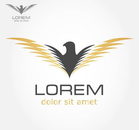 Bird symbol vector Vector