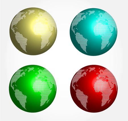 glob: Abstract globe 3d - set Illustration