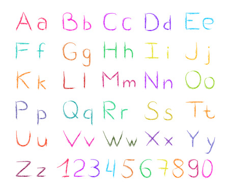 ABC set of colorful outlined letters Vector