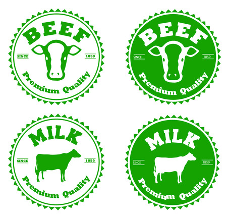 Set of premium beef labels, badges and design elements Vector