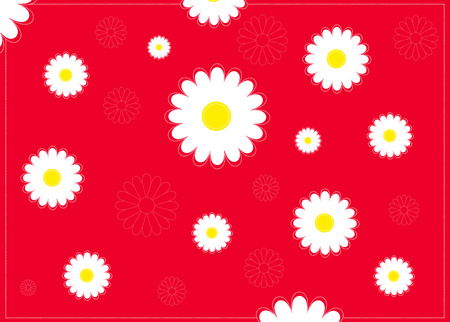 Seamless pattern with chamomile herbs Vector