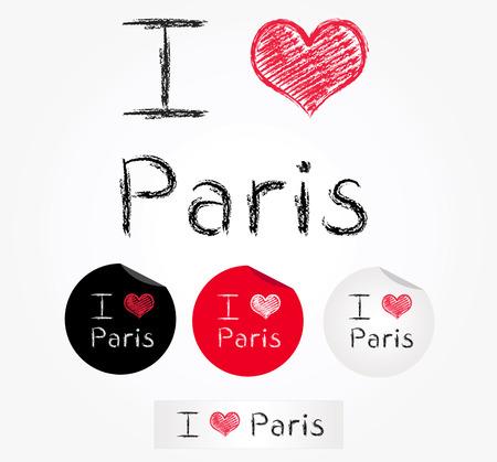 i love paris:  i love paris Illustration
