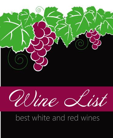 vine bottle: Vector - Wine label design
