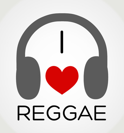 abstract background - I love the reggae music Vector