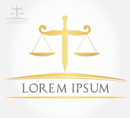 dama de la justicia: Escala de símbolo de la justicia Vectores