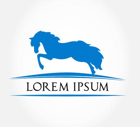 dobbin: Horse symbol  Vector illustration
