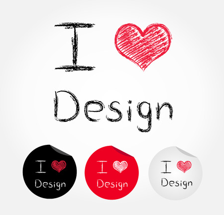 i love design Vector