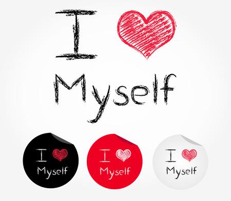 himself: i love myself Illustration