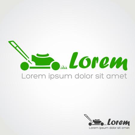 grass cutting: lawn mower symbol vector