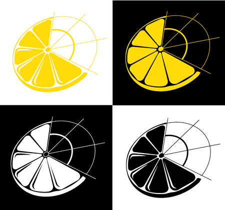 Lemon symbol vector