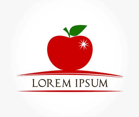 apple symbol vector Illustration