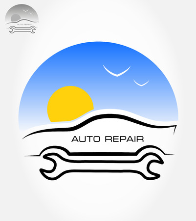 Auto repair symbol  Vector illustration
