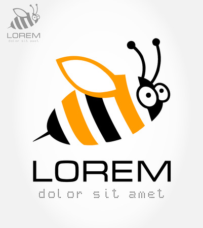 Bee symbol  Vector illustration  Vector
