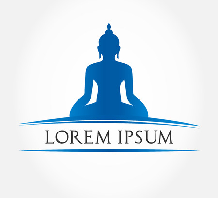 yoga silhouette: Buddha silhouette  Buddhism