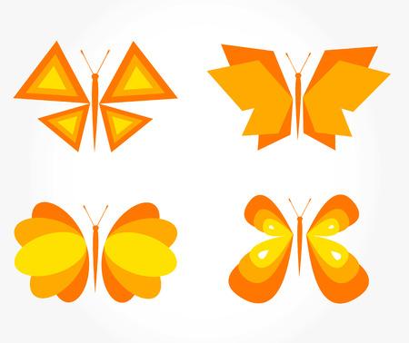 Butterfly orange - set Vector