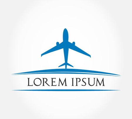 private jet: airplane symbol  vector illustration