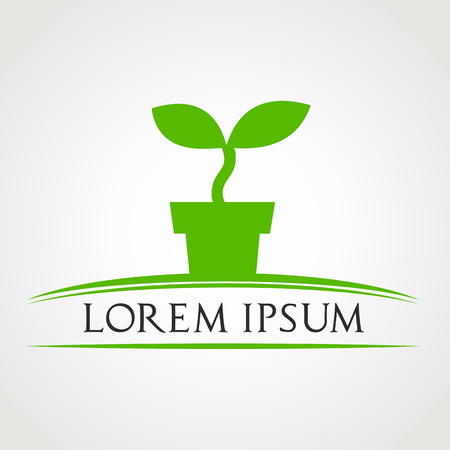 plant pot: potted plant symbol vector