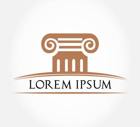 Roman Column Symbol  Vector Illustration