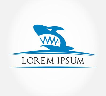 Shark symbol  Vector Illustration