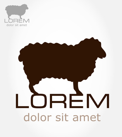 bleating: Sheep symbol  Lamb vector