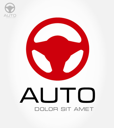 Steering wheel symbol  Vector illustration  Vector