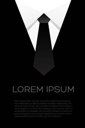night suit: tie bow vector - flyer suit Illustration