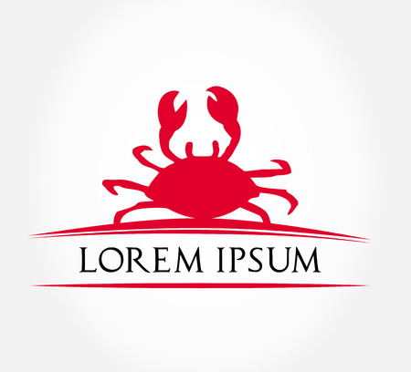crab meat: crab symbol  vector illustration  Illustration