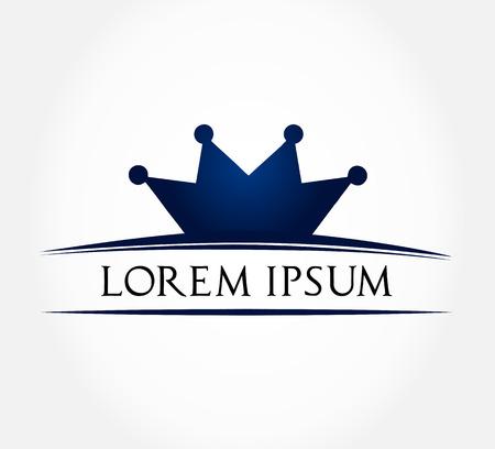 Crown symbol  Vector illustration