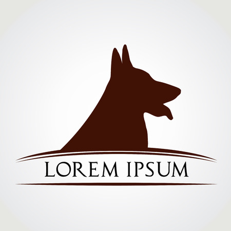 in german: Dog vector symbol - animal Illustration
