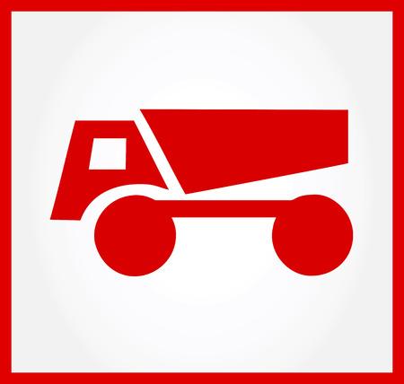 Dump Truck symbol Vector