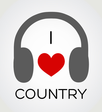 country music: Vector abstract background - Amo la musica paese Vettoriali