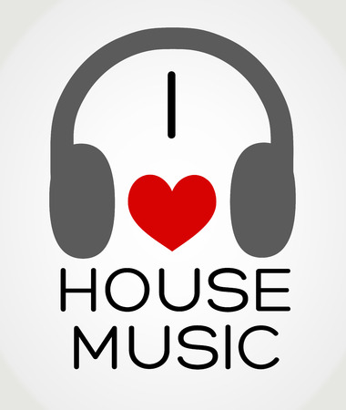 Vector abstract background - I love the house music