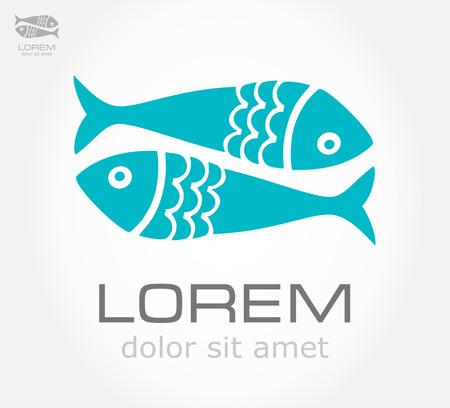 Fish symbol  Vector illustration