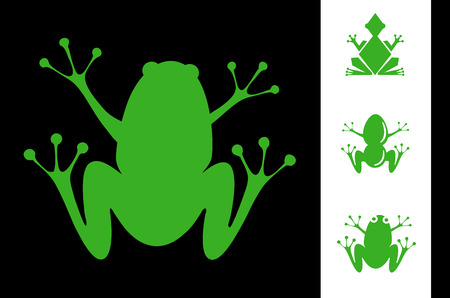 Illustration set of frogs Vector