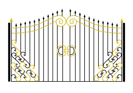 Gate in the vector Illustration