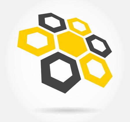 honeycomb symbol Vector