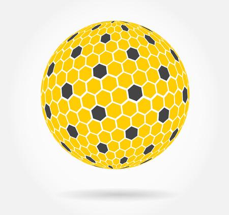 honeycomb sphere symbol Vector