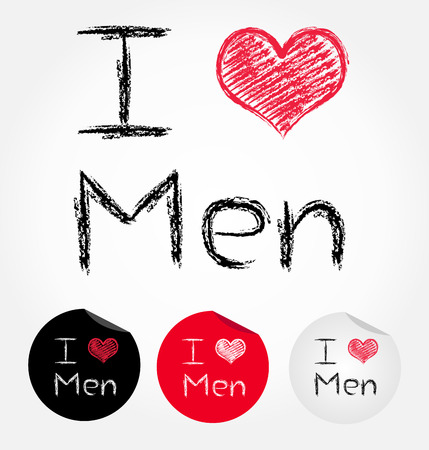 I love men  Vector illustration  Vector