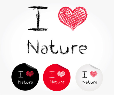 i love nature Vector