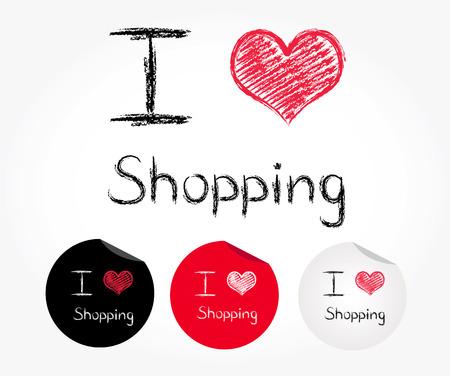 나는 쇼핑 사랑 일러스트