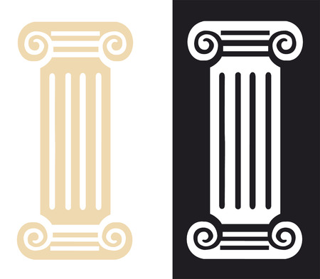 Roman Column Symbol  Vector Illustration