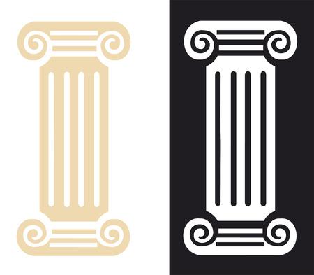 colonna romana: Colonna romana illustrazione simbolo vettoriale