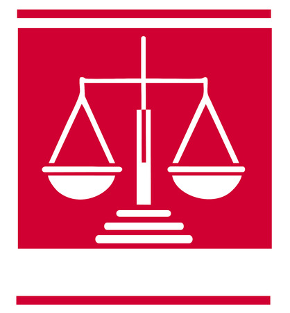 Scale of justice symbol Vector
