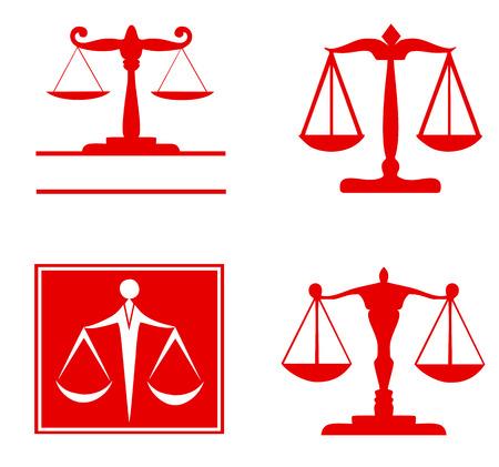 Scale of justice symbol - set