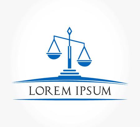 justicia: Escala de símbolo de la justicia Vectores