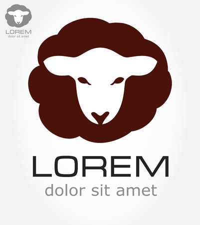baa: Sheep symbol  Lamb vector