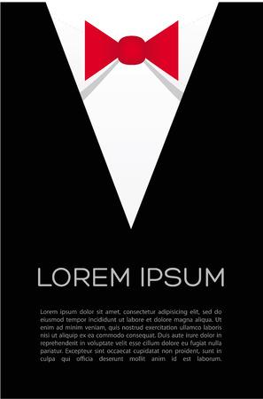 night suit: Tie bow vector - flyer suit  Businessman shirt  Illustration
