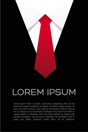 Tie vector - flyer suit  Businessman shirt  Illustration
